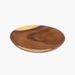 Assiette en bois d'acacia 23 cm