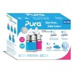 Pura Baby Bottle 150 ml Giftset Aqua Pink | .