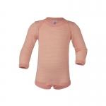 Engel Body laine/soie manches longues Lachs/Natur 5001E | 50/56