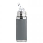 Pura Trinkhalm Isolierflasche 260 ml Grey | .