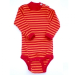 Engel Baby-Body Wolle/Seide gestreift
