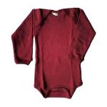 Swiss Made Bio Body Wolle/Seide von Hocosa 766 Rubinrot | 74/80