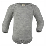 Engel Body Wool/Silk Hellgrau melange 091 | 74/80