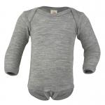 Engel Baby-Body Wolle/Seide Hellgrau melange 091 | 62/68