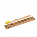 ecobamboo Brosse à dents adultes supersoft yellow