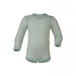 Engel Baby-Body Wolle/Seide Gletscher/Natur 3001   86/92