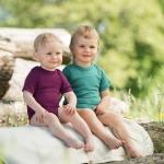 Engel Baby-Body Wolle/Seide kurzarm