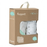 Hoppa Swaddles Duopack Stars taupe - baby pink