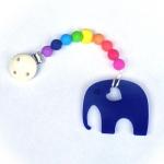 Kaukette Elefant Blau/Rainbow | .