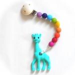 Kaukette Giraffe Türkis/Rainbow | .