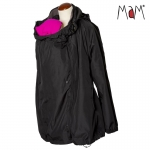 MaM All-Season Combo Babywearing Jacket, 3-in-1 Black/LavaStoneGrey | S