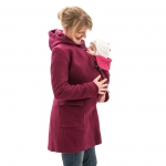 mamalila Hooded Coat for two Beere | L