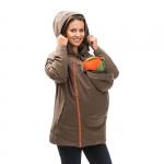 mamalila padded winter jacket for two Choco | XS