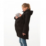 mamalila Hooded Coat for two black