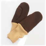 Manymonths Woll-Handschuhe (Mittens) Almond Chocolate | XS/S