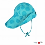 ManyMonths Summer Hat Original Light Big Dots Turquoise | L/XL