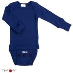 Manymonths Woll-Body/Shirt langarm Jewel Blue | L
