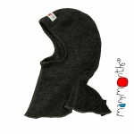Manymonths Woll-Elefantenmütze (ElephantHood) Foggy Black | S/M