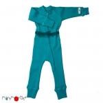 Manymonths One Piece Suit- combinaison laine Royal Turquoise | S/M