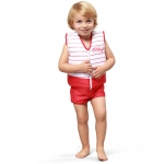 Plouf Floating Swimsuit Swim Team Rouge