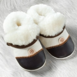 POLOLO Lambskin-slippers, natural/brown