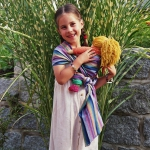 Storchenwiege écharpe porte-poupée