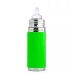 Pura Baby Isolierflasche 260 ml Weithalssauger Green | .