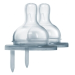 Pura Y-Cut Natural Vent Nipple (2/pack)