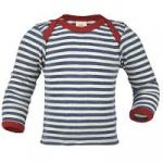 Engel Baby-Schupfhemd Wolle BlauMelange/Natur 81 | 98/104
