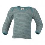 Engel Baby-Shirt wool/silk hellgrau/eisvogel | 86/92