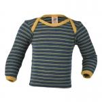 Engel Baby-Schupfhemd Wolle Saphir/Sonnengelb | 74/80