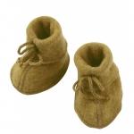 Engel Baby-Schühchen, Wollfleece Safran melange 018E | 2