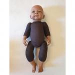 Trage-Puppe Selina 48 cm dunkel