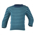 Engel Baby-Shirt Wolle/Seide Light ocean/eisvogel | 74/80