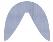 Bezug für Dinkel-Stillkissen (Sknake) Fine Stripe blue 377 | .