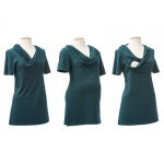 mamalila Tunic Emma Dark green | XS
