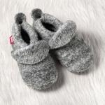 POLOLO Walkschuh mit Ledersohle Grau meliert