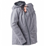 mamalila padded winter jacket for two Sympatex Grau meliert | S