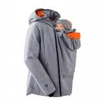 Mamalila Winterjacke für zwei Sympatex Grau meliert /Orange   L