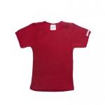 ManyMonths Wool Shirt short sleeve Raspberry Red | L