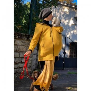 Wear Me veste laine 4in1 moutarde