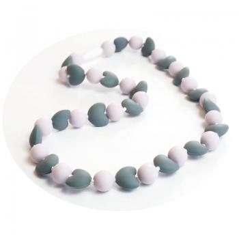 Collier d'allaitement Beatrice Grau/Lilac Purple | .