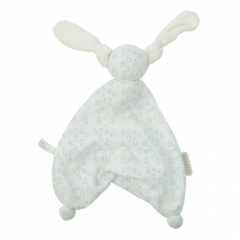 Hoppa Floppy Muslin Houses white/mint