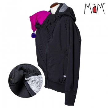 MaM SoftShell Tragejacke Black/Rock Grey | M