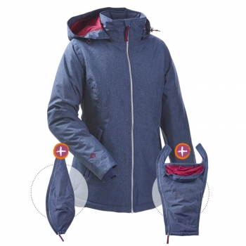 mamalila padded winter jacket for two
