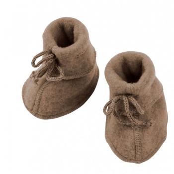Engel Baby-Schühchen, Wollfleece Walnuss melange 075 | 2