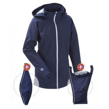 mamalila All-weatherjacket Softshell Navy-Ice | S