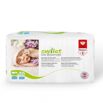 Swilet organic diapers Newborn 2-4 kg 1 Beutel