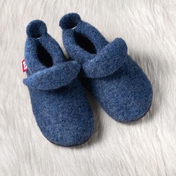 POLOLO Walkschuh mit Ledersohle jeansblau