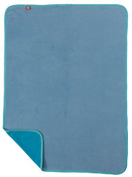 Velours blanket blue